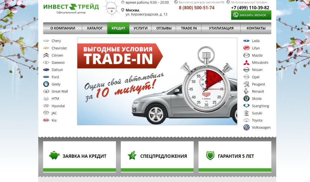 Инвест-Трейд - отзывы (автосалон на Кировоградской 13)